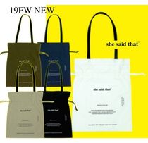 韓国発【she said that】Signature Nylon Bag 全5色 追跡送料込