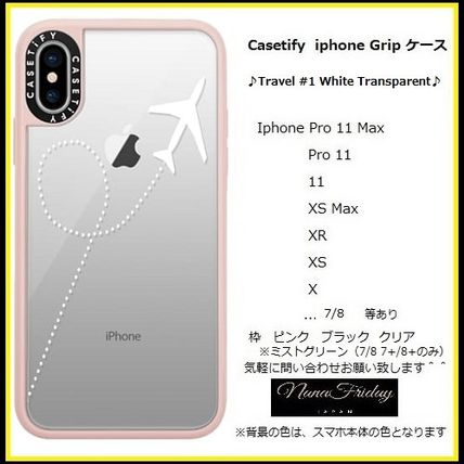 Casetify スマホケース・テックアクセサリー Casetify iphone Gripケース♪Travel #1 White Transparent♪