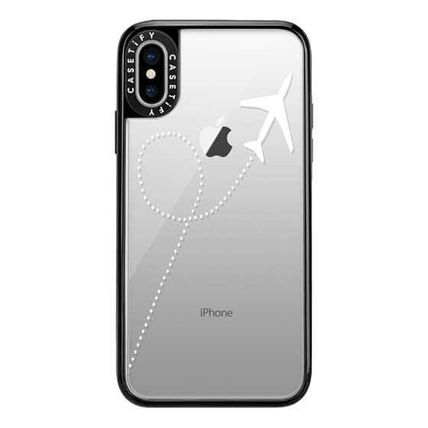 Casetify スマホケース・テックアクセサリー Casetify iphone Gripケース♪Travel #1 White Transparent♪(6)