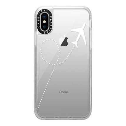 Casetify スマホケース・テックアクセサリー Casetify iphone Gripケース♪Travel #1 White Transparent♪(10)