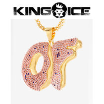 【King Ice】King Ice X Odd Future OF Pendant Gold Necklace