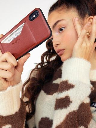 SCULPTOR スマホケース・テックアクセサリー SCULPTOR Faux leather Card Holder Phone Case MH680 追跡付(7)