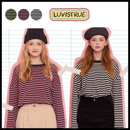 LUV IS TRUE Tシャツ・カットソー ☆ LUV IS TRUE☆ Tシャツ MD LOGO STRIPE TEE 3色