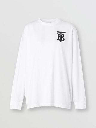 Burberry Tシャツ・カットソー BURBERRY★ロングスリーブ モノグラム コットン トップ(5)