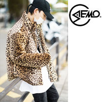 *SEMO*韓国FASHION*LEOPARD FLEECE OVER-FIT ブルゾン