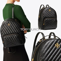 【Tory Burch】KIRA CHEVRON ZIP-AROUND BACKPACK BLACK