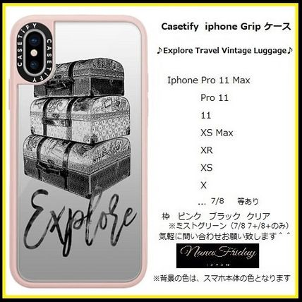 Casetify スマホケース・テックアクセサリー Casetify iphone Gripケース♪Explore Travel Vintage Luggage♪