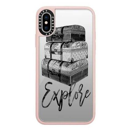 Casetify スマホケース・テックアクセサリー Casetify iphone Gripケース♪Explore Travel Vintage Luggage♪(2)