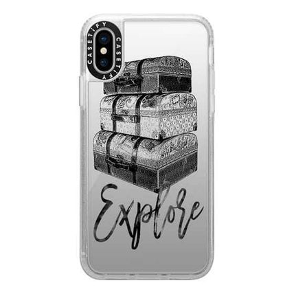 Casetify スマホケース・テックアクセサリー Casetify iphone Gripケース♪Explore Travel Vintage Luggage♪(10)
