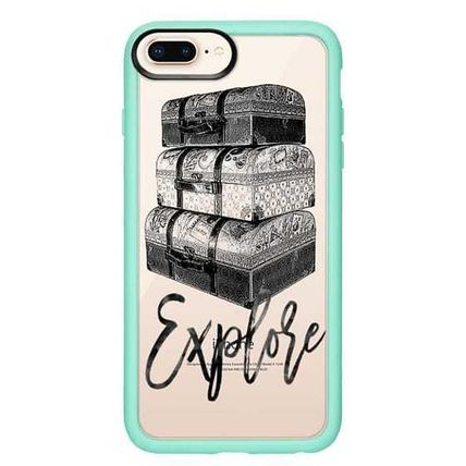 Casetify スマホケース・テックアクセサリー Casetify iphone Gripケース♪Explore Travel Vintage Luggage♪(15)