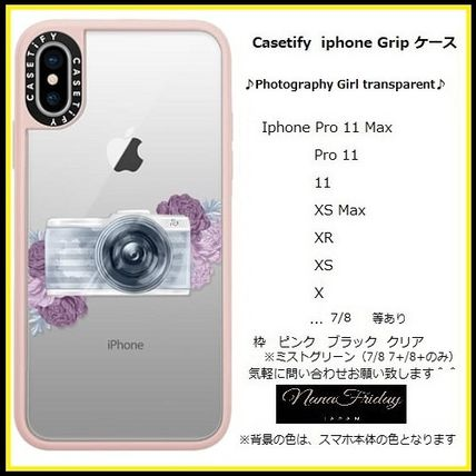 Casetify スマホケース・テックアクセサリー Casetify iphone Gripケース♪Photography Girl transparent,,♪