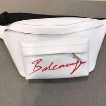 VIP SALE!【BALENCIAGA】 Leather Beltpack White & Red