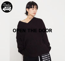 OPEN THE DOOR loose v-neck golgi knit MH725 追跡付