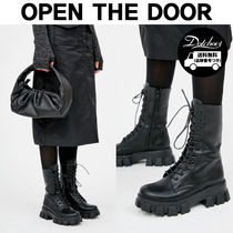 OPEN THE DOOR platform leather middle boots MH732 追跡付