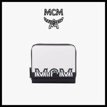 【MCM】★CONTRAST LOGO ZIP AROUND 半財布★正規品