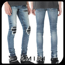 ●関税・送料込●AMIRI LEATHER PATCH JEAN DARK ジーンズ