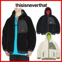 ☆人気☆【thisisneverthat】☆HOODED BOA FLEECE JACKET☆3色☆