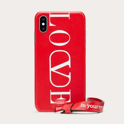 VALENTINO スマホケース・テックアクセサリー LOVE PHONE COVER FOR IPHONE XS MAX -  RED