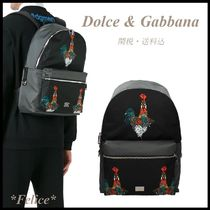 Dolce & Gabbana★Volcano Rooster Print Backpack 関税/送料込