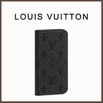 Louis Vuitton☆iPhoneケース X/XS/XS MAXフォリオ 黒☆