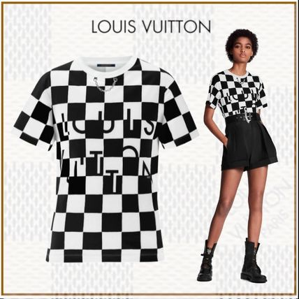 Louis Vuitton Tシャツ・カットソー 人気!20Cruise新作☆ルイヴィトン☆ダミエTシャツ チェーン