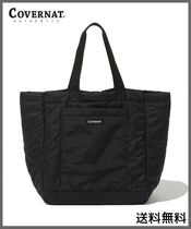 [COVERNAT] QUILTED TOTE BAG BLACK