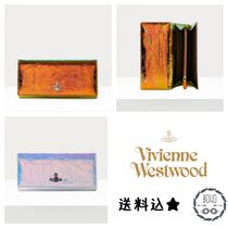 UK発!【Vivienne Westwood】Archive Orb 虹色 レザー 長財布