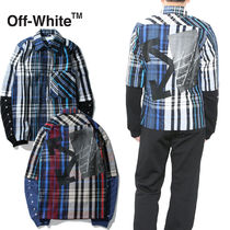 Off-White ネルシャツ CHECKED SHIRT