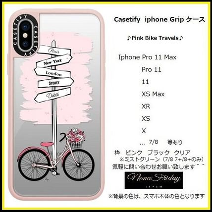 Casetify スマホケース・テックアクセサリー Casetify iphone Gripケース♪Pink Bike Travels♪