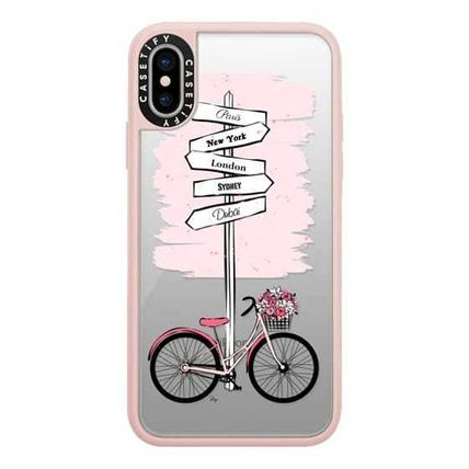 Casetify スマホケース・テックアクセサリー Casetify iphone Gripケース♪Pink Bike Travels♪(2)