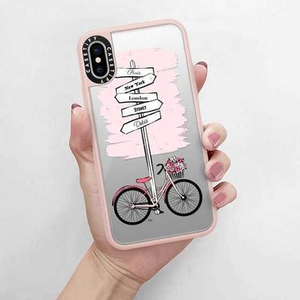 Casetify スマホケース・テックアクセサリー Casetify iphone Gripケース♪Pink Bike Travels♪(5)