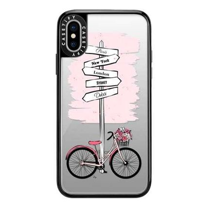 Casetify スマホケース・テックアクセサリー Casetify iphone Gripケース♪Pink Bike Travels♪(6)