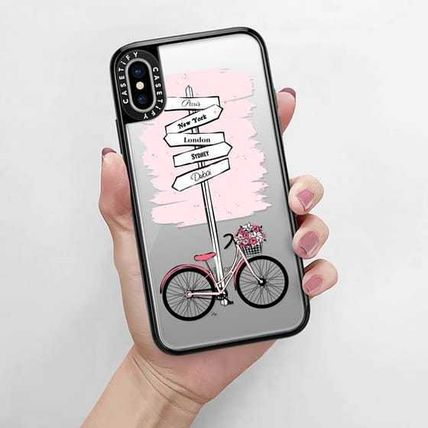 Casetify スマホケース・テックアクセサリー Casetify iphone Gripケース♪Pink Bike Travels♪(9)