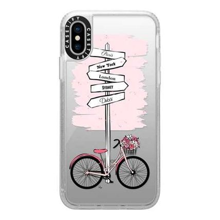 Casetify スマホケース・テックアクセサリー Casetify iphone Gripケース♪Pink Bike Travels♪(10)