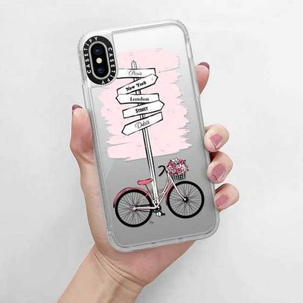 Casetify スマホケース・テックアクセサリー Casetify iphone Gripケース♪Pink Bike Travels♪(13)