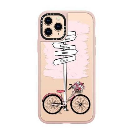 Casetify スマホケース・テックアクセサリー Casetify iphone Gripケース♪Pink Bike Travels♪(14)