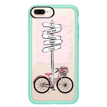 Casetify スマホケース・テックアクセサリー Casetify iphone Gripケース♪Pink Bike Travels♪(15)