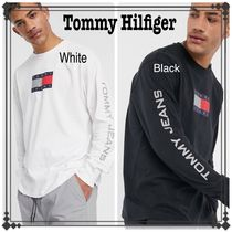 Tommy Jeans トミージーンズ Tシャツ 袖ロゴ ロンT 長袖 送関込