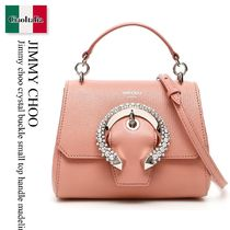 JIMMY CHOO Crystal Buckle Small Top Handle Madeline Bag