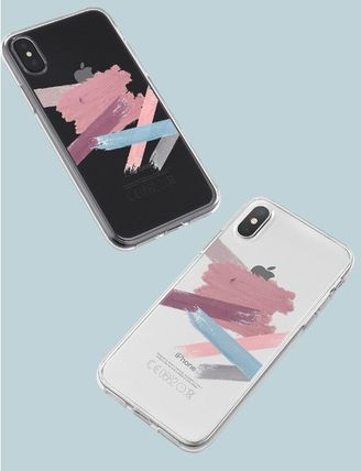 Geeky スマホケース・テックアクセサリー GEEKY★Brushstroke No.6 - クリアTouchable★iPhone ケース(4)
