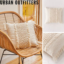 Urban Outfitters   Macrame Fringed Throw Pillow クッション