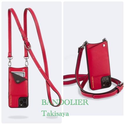 Bandolier スマホケース・テックアクセサリー 新色 BANDOLIER !Casey Pebble Leather Red/Silver XS/X/XR(2)