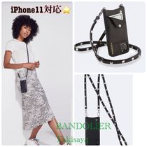 iPhone11 ケース 人気黒3色 BANDOLIER Sarah Pebble Crossbody