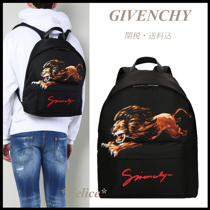 *GIVENCHY*LEO PRINT BACKPACK 関税/送料込 (GIVENCHY/バックパック・リュック) 49246401