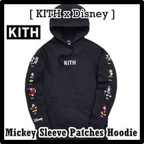 KITH NYC(キスニューヨークシティ) パーカー・フーディ Kith x Disney Mickey Sleeve Patches Hoodie Black 2019