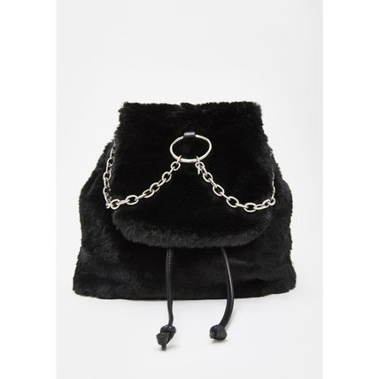 DOLLS KILL バックパック・リュック 関税/送料込*DOLLS KILL*NO RECESS FAUX FUR BACKPACK(2)