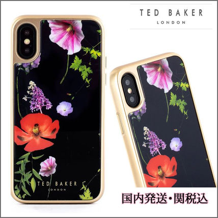 TED BAKER スマホケース・テックアクセサリー 【国内発】TED BAKER iPhoneケース 7/8/X/XS 花柄 ハードケース
