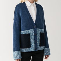 """COS"" OVERSIZED WOOL-ALPACA CARDIGAN B/N/W"