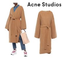 Acne Studios☆Belted wool and cashmere-blend felt coat