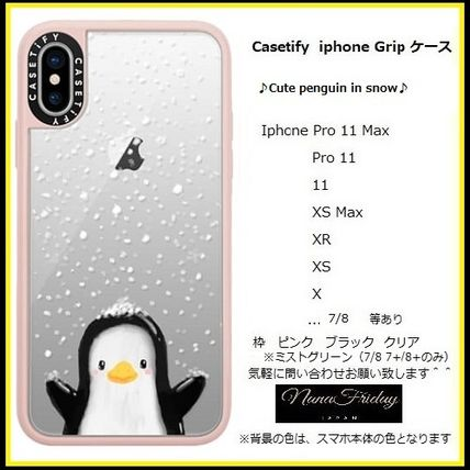 Casetify スマホケース・テックアクセサリー Casetify iphone Gripケース♪Cute penguin in snow♪